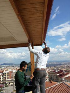 Teras Ahşap Çatı Sundurma